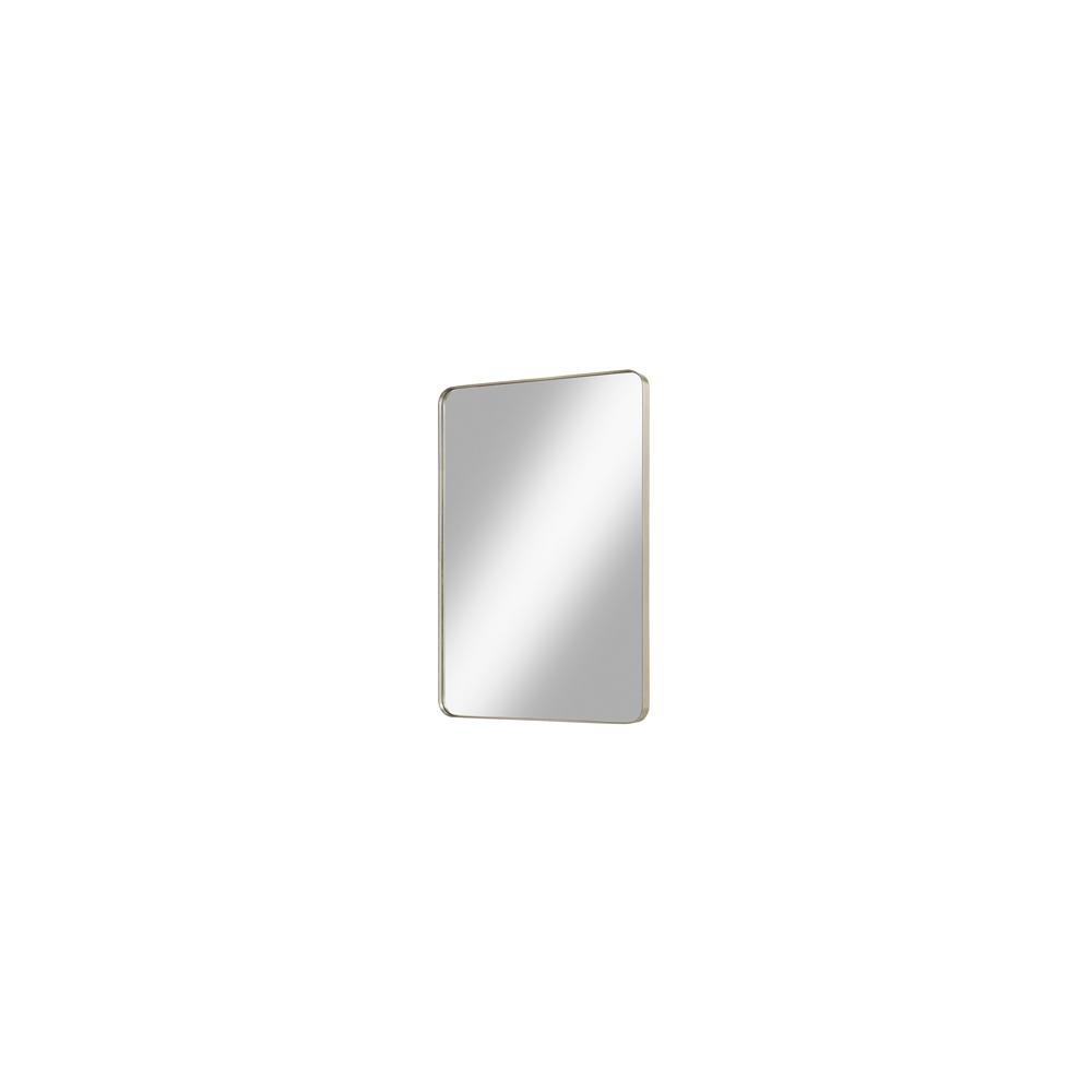 "Reflections 24"" Metal Frame Mirror - Brushed Nickel"