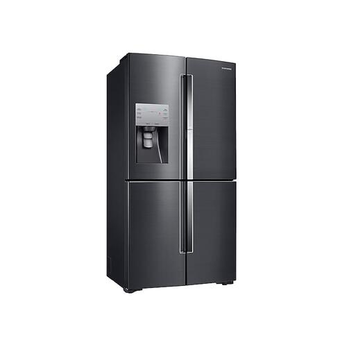22 cu. ft. Food Showcase Counter Depth 4-Door Flex™ Refrigerator with FlexZone™ in Black Stainless Steel