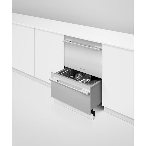 Fisher & Paykel - Integrated Double DishDrawer™ Dishwasher, Tall, Sanitize