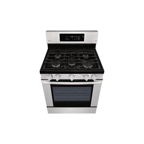 LG - 5.4 cu. ft. Gas Single Oven Range with EasyClean®
