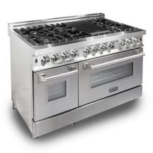 ZLINE 48 in. Professional Dual Fuel Range with DuraSnow® Finish Door (RA-SN-48)