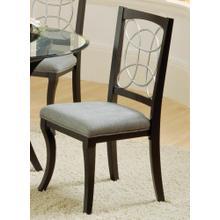 Seville Dinette : Seville Black / Silver Side Chair