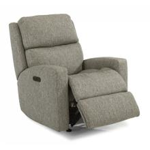 HARKNESS EXCLUSIVE! Fabric Power Rocking Recliner with Power Headrest