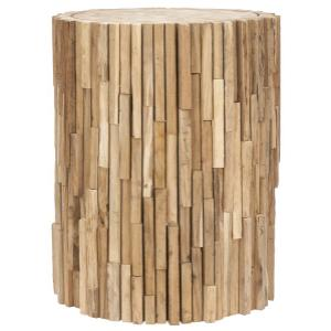 Minidoka Round Stool - Medium Oak