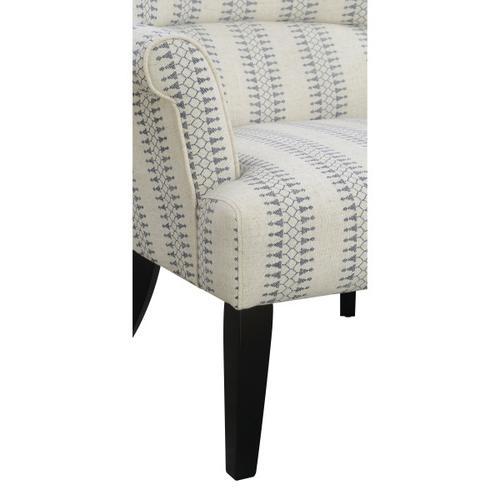 Roll Arm Accent Chair - Cream/Blue