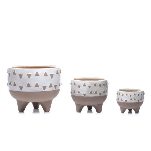 Feliz Footed Cachepot - Set of 3