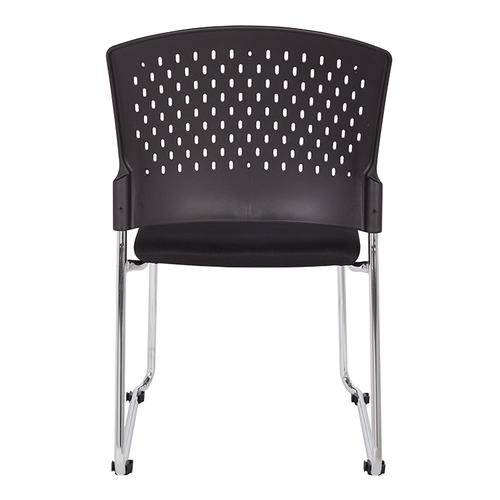 Office Star - Visitors Chair With Plastic Back and Dolly
