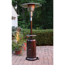 Hanover 7-Ft. 48,000 BTU Steel Umbrella Propane Patio Heater in Hammered Bronze with Weather-Protective Cover, H001BR-CV