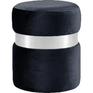 "Hailey Velvet Ottoman  Stool - 14.5"" W x 14.5"" D x 17.5"" H"