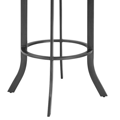 """Edy Swivel 30"""" Mineral Finish and Black Faux Leather Bar Stool"""
