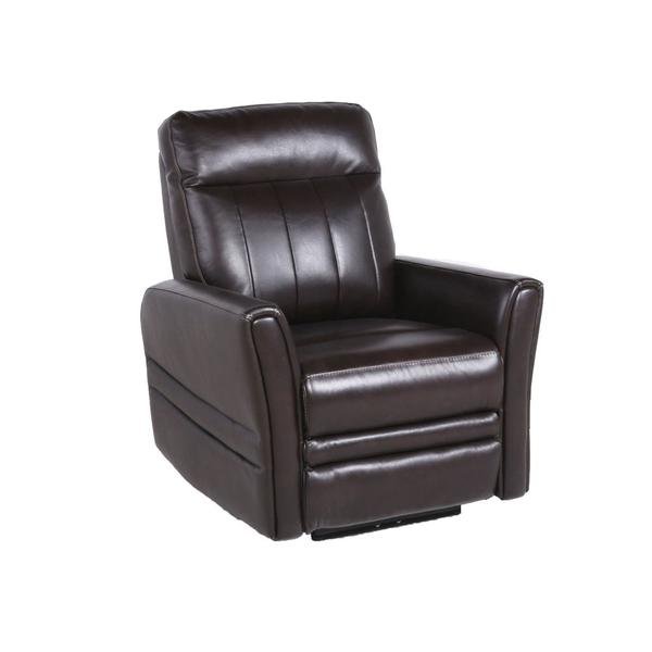 Coachella Dual-Power Leather Recliner Chair, Brown