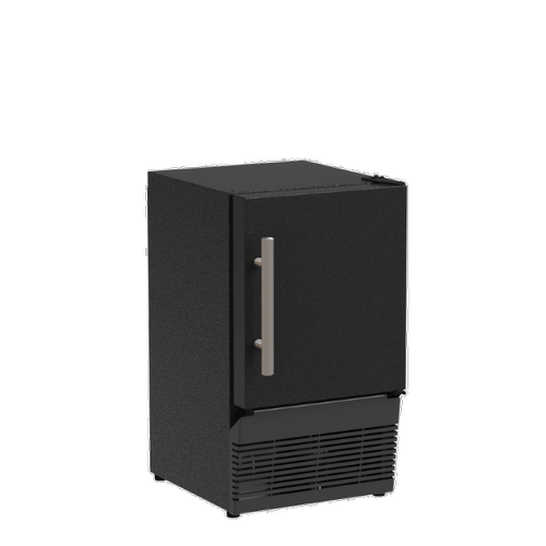 Marvel - 14-In Low Profile Compact Crescent Ice Machine with Door Style - Black Solid
