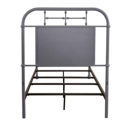 Twin Metal Bed - Grey