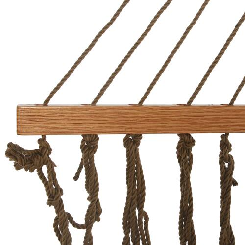 Pawleys Island Hammocks - Large Original DuraCord Rope Hammock - Antique Brown