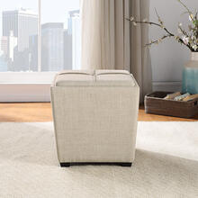 Rockford Storage Ottoman In Cream