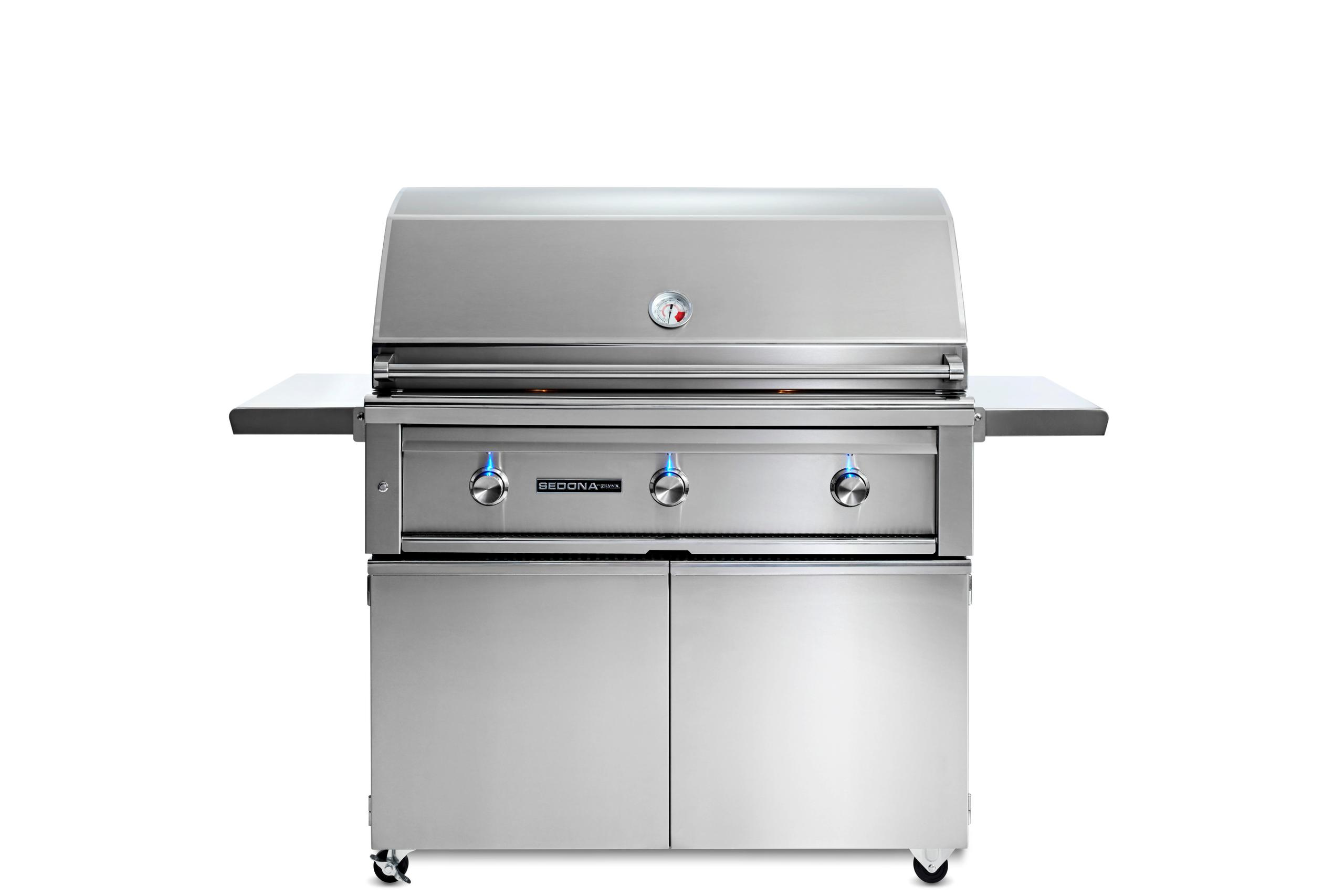 "Lynx42"" Sedona By Lynx Freestanding Grill With 3 Stainless Steel Burners, Lp"