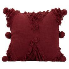 See Details - 18x18 Hand Woven Betty Pillow Burgundy