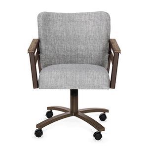 Chromcraft - Chair Bucket: Barrel Back (smoke & aged iron)