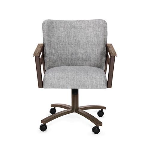 Gallery - Chair Bucket: Barrel Back (smoke & aged iron)