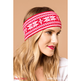Snow It All Headband - Red (6 pc. ppk.)