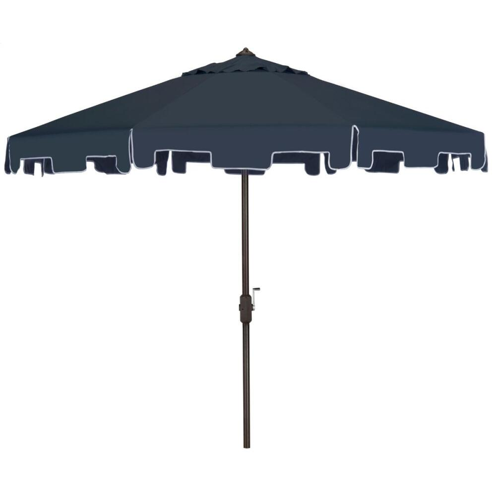 Zimmerman 9 Ft Crank Market Umbrella With Flap - Navy