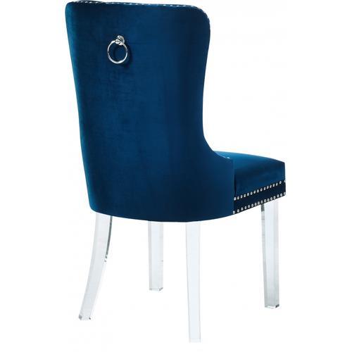 "Miley Velvet Dining Chair with Acrylic Legs - 21.5"" W x 27"" D x 40"" H"