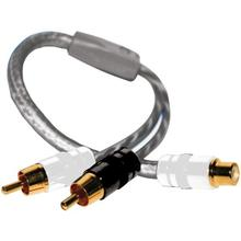 See Details - Twisted-Pair Strandworx Series RCA Y-Adapter, 1 Female to 2 Males