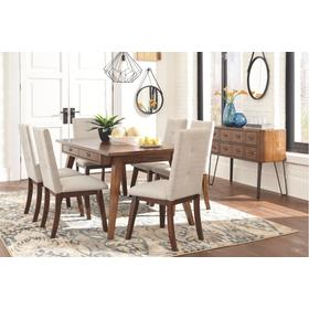 Centiar Dining Room Table & 6 Chairs Two-tone Brown/White