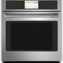 """See Details - Café ™ 27"""" Built-In Single Electric Convection Wall Oven Stainless Steel"""