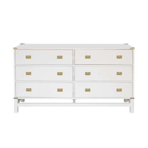 Accentrics Home - Glam Campaign 6 Drawer Dresser (Carton 1 of 2)