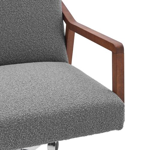 Kendrick KD Fabric Office Chair, Boucle Gray