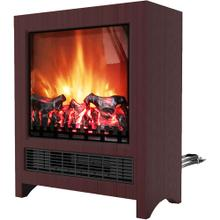 See Details - 19-In Freestanding 4606 BTU Electric Fireplace with Wood Log Insert, Mahogany