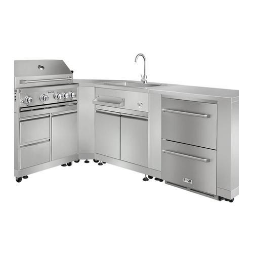 Outdoor Kitchen Refrigerator Cabinet In Stainless Steel