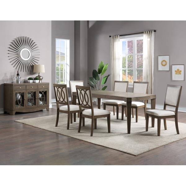 See Details - Bordeaux 5-piece Dining Set (78-inch Dining Table & 4 Side Chairs)