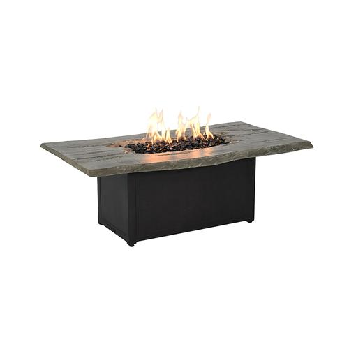 Castelle - Nature's Wood Rectangular Firepit Coffee Table
