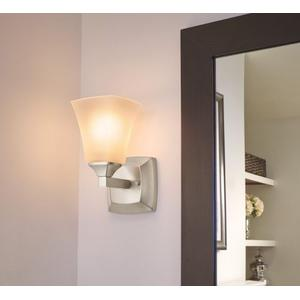 Voss brushed nickel bath light