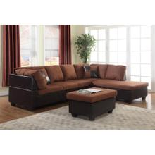 CHOCOLATE/MOCHA SECTIONAL CHAISE