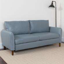 Product Image - Milton Park Upholstered Plush Pillow Back Sofa in Gray LeatherSoft