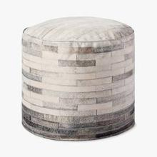 See Details - PF0002 Ivory / Grey Poufs