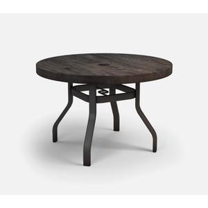 """42"""" Round Dining Table (with Hole) Ht: 27.25"""" 37XX Universal Aluminum Base (Model # Includes Both Top & Base)"""