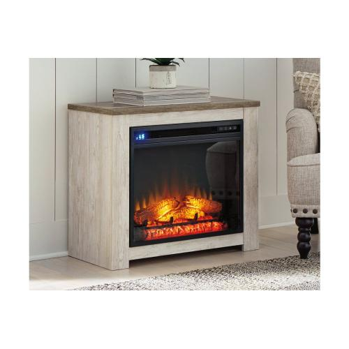 Willowton Whitewash Fireplace Mantel
