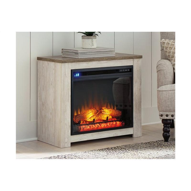 View Product - Willowton Whitewash Fireplace Mantel