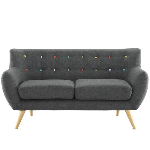 Modway - Remark Upholstered Fabric Loveseat in Gray