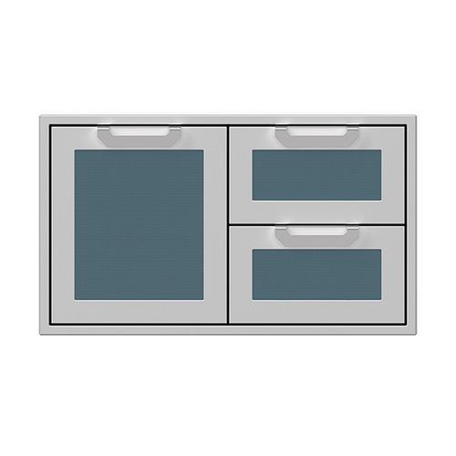 """Hestan - 36"""" Hestan Outdoor Combo Door/Drawer - AGSDR Series - Pacific-fog"""