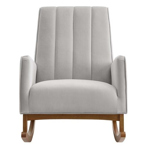 Modway - Sway Performance Velvet Rocking Chair in Light Gray