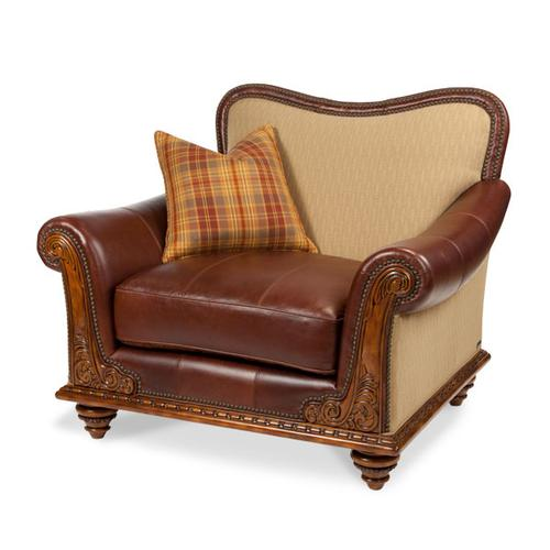 Fabric/Leather Chair and 1/2