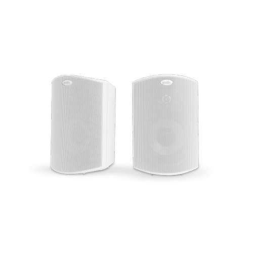 """ALL WEATHER OUTDOOR LOUDSPEAKERS WITH 5.25"""" DRIVERS, 1"""" TWEETERS AND POWER PORT BASS VENTING (PAIR) in White"""