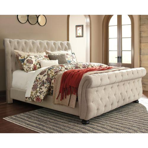 Willenburg King Upholstered Sleigh Bed