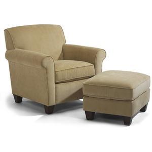 Dana Fabric Chair & Ottoman