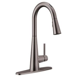 Sleek black stainless one-handle pulldown kitchen faucet Product Image